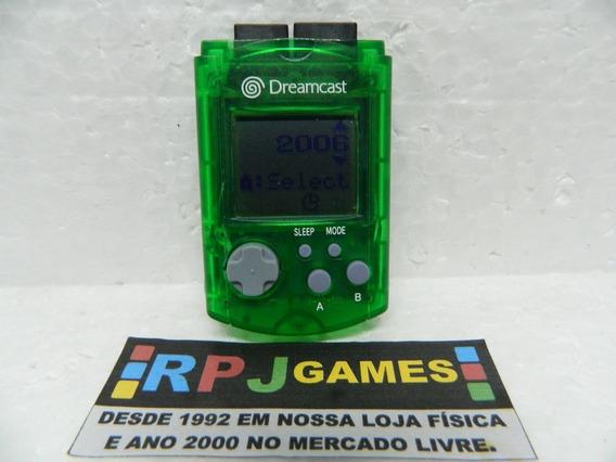 Vmu Memory Card Original Verde P/ Dreamcast - Loja Rj