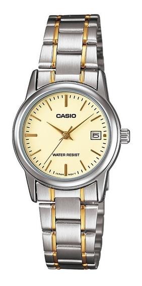 Relógio Analógico Feminino Casio Ltp-v002sg-9audf