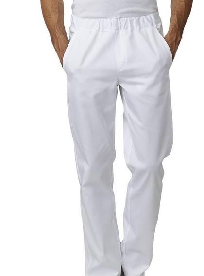 Calça Branca De Brim Com Elastico Para Açougue