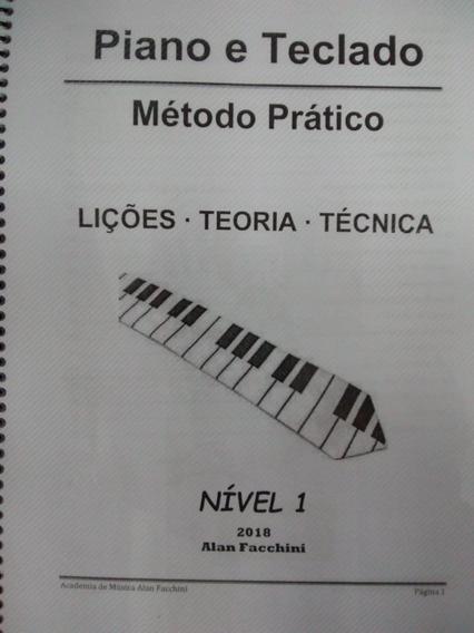 Livro De Estudos Para Piano/teclado Nível 1