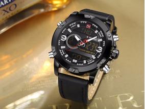 Relógio Masculino Naviforce Original Pulseira De Couro 12x S
