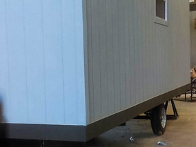 Remolque Movil De 8x24 Pies Oficina Caseta Camper Sin Wc