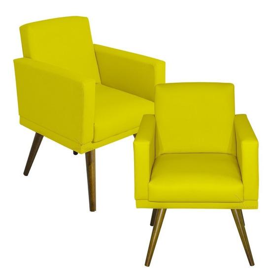 Kit 02 Poltrona Cadeira Recepção Escritório Clinica Nina