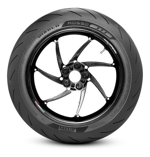 Imagen 1 de 2 de Cubierta trasera para moto Pirelli Supersport Diablo Rosso II para uso sin cámara 150/60 R17 H 66