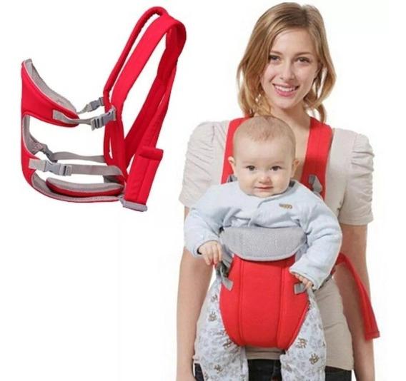 Canguru Para Bebê Até 15kg Luxo Baby Bag E Babador Vermelho