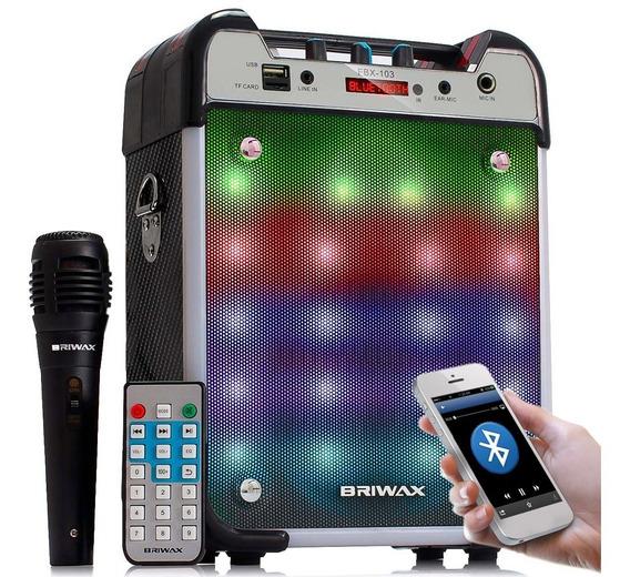 Caixa De Som Bluetooth Amplificada 120w Microfone Mp3 Usb