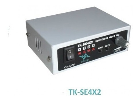 Seletor De Vídeo Sequencial Para 4 Câmeras - Conector Bnc
