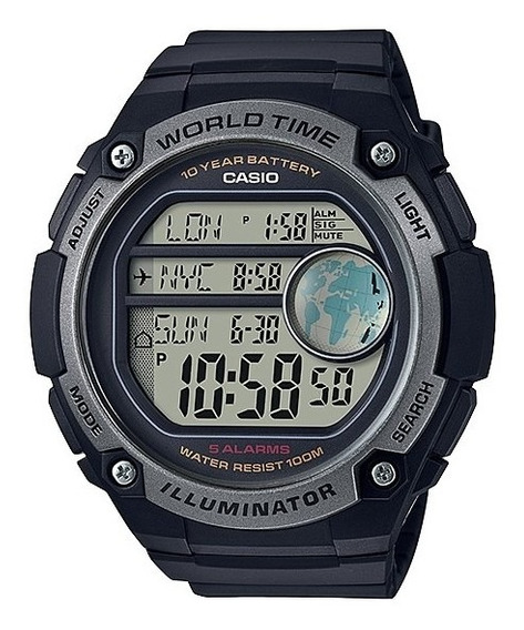 Reloj Casio World Time Ae-3000w-1avcf