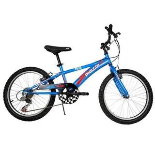 Bicicleta De Niño Rodado 20 Philco Color Azul Cuotas