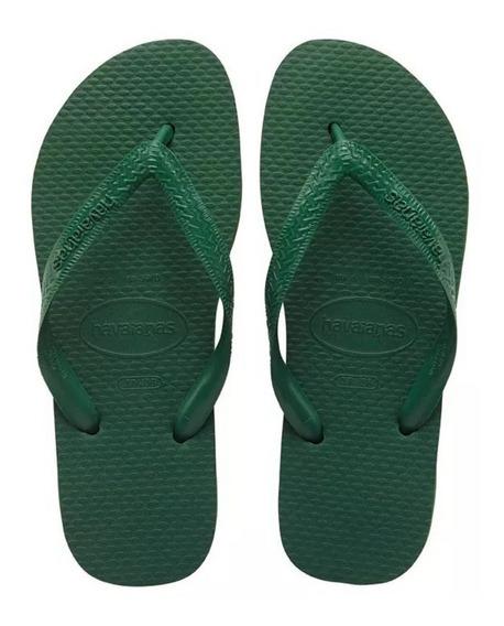 Ojotas Havaianas Color Verde Unisex Originales Hombre