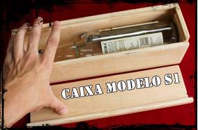 Caixa Cachaça Gaveta Modelo S1 De Madeira 35,5x9,4x10