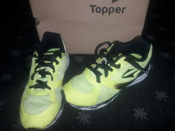 Zapatillas Topper Skinnect Niños Talle 31 Amarillas Usadas