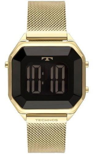 Relógio Technos Feminino Digital Elegance Crystal Bj3851aj/4