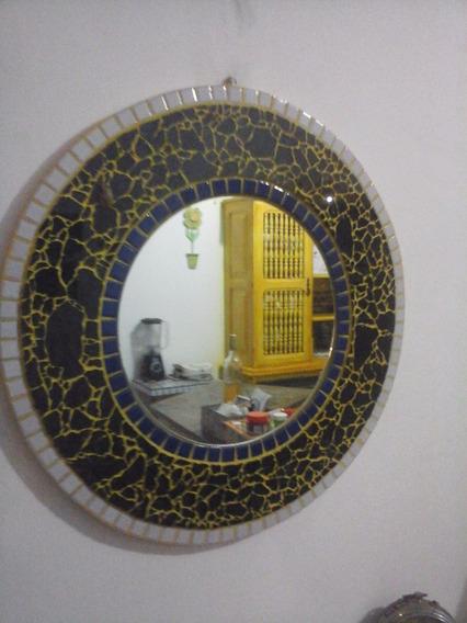 Espelho Mosaico E Vidro Temperado