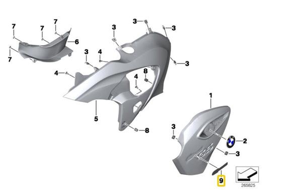 Etiqueta Auto Adesiva G 650 Gs Original Bmw 46638536237