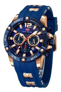 Reloj Hombre Mini Focus 0349 Oaa Deportivo Tactico Caja