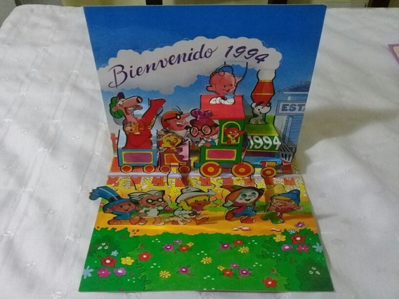 Postal, Tarjeta Feliz 1994 Tridimensional. Revista Anteojito