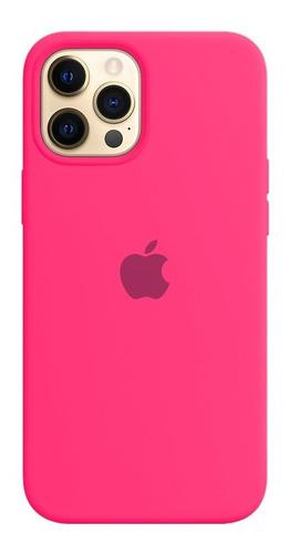 Imagem 1 de 8 de Capa Capinha Case Silicone iPhone 12 Pro Max+ 1 Película