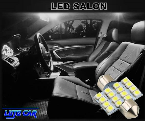Luz Led Salón Panel Placa Cajuela Para Interior Auto 31mm