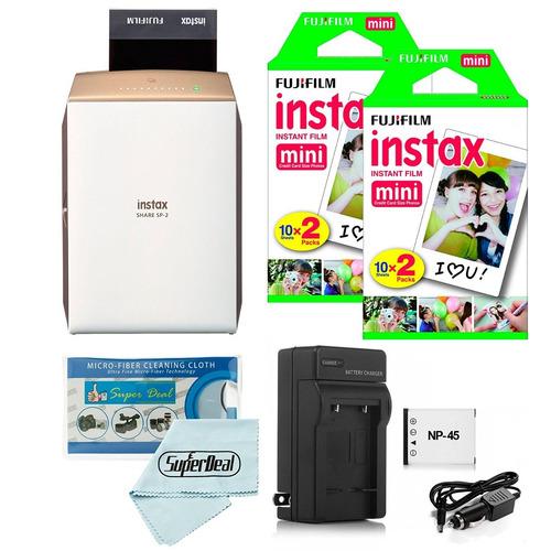 Imagen 1 de 5 de Kit Impresora Fujifilm Instax Share Smartphone Mini 40 Hojas
