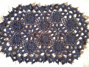 Tapete De Crochê Flor De Girassol