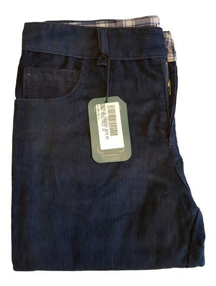 Pantalon Corderoy Niños Kooga Marron / Azul - 4 Al 14