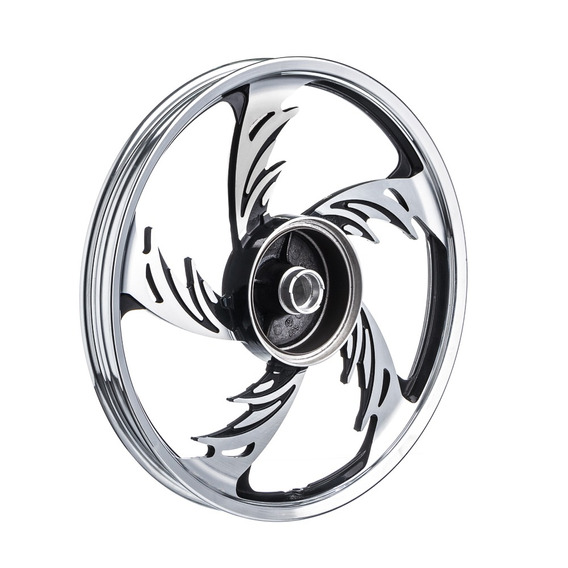 Roda Aluminio Dianteira Temco Orion Crom/pto Ybr125 Ks