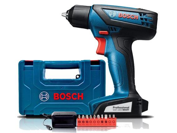 Parafusadeira Furadeira Bosch 12v Gsr1000 Smart + Bits