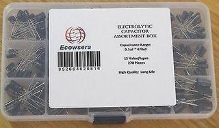Tipo De Valor 270 15 Pc Condensador Electrolítico Caja S-357