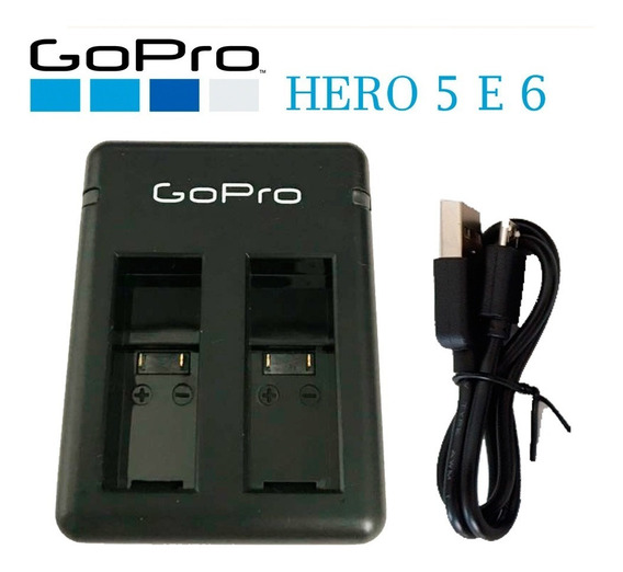 Carregador Duplo Bateria Camera Go Pro Hero 5 E 6 Lançamento