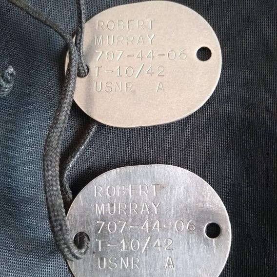 Dog Tag Marinha Americana 2guerra Mundial!