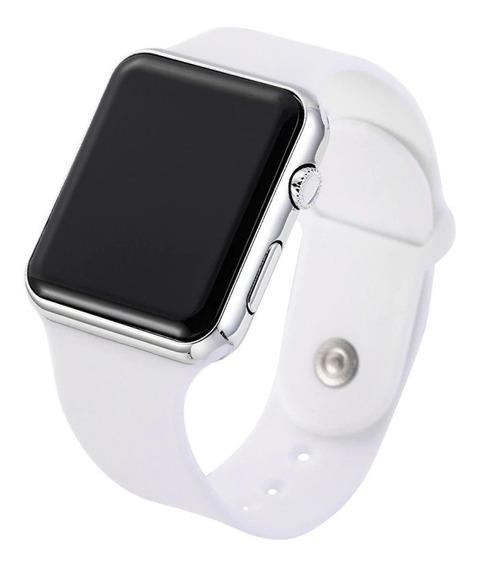 Relógio De Pulso Digital Led Masculino Feminino Branco