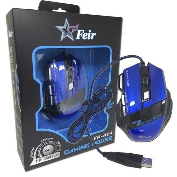 Mouse Gamer Óptico 2400dpi Profissional Usb Frete Grátis