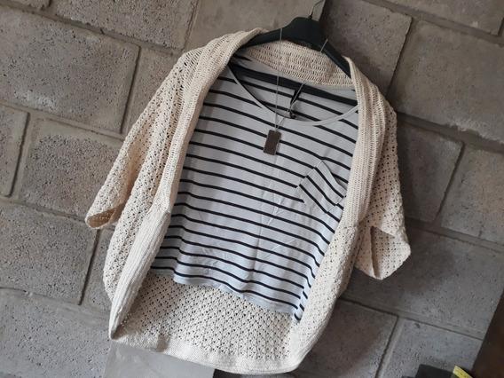 Saco A Crochet Color Crudo