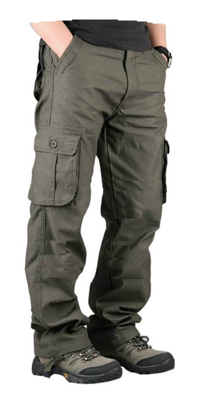 Pantalon Cargo Men Warrior Reforzado Hard Work Militar Ffaa