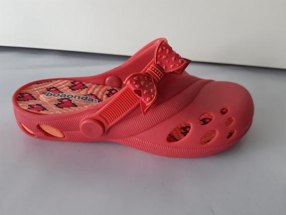 Sandália Chinelo Crocs Babuche Boa Onda Haia 5993 Rosa