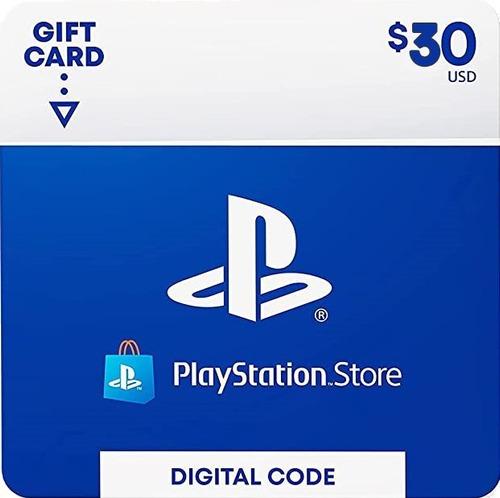 Imagen 1 de 2 de Tarjeta Playstation Network 30 Usd Psn Usa Ps4   Mvd Store