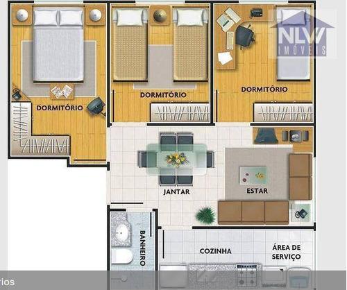 Imagem 1 de 9 de Apartamento Com 3 Dormitórios À Venda, 50 M² Por R$ 350.000,00 - Vila Matilde - São Paulo/sp - Ap3131