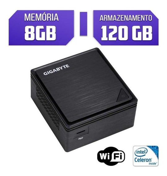 Mini Pc Gigabyte Intel Celeron J3455 Ram 8gb Ssd 120gb Wifi
