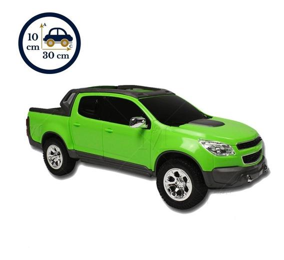 Miniatura De Brinquedo Caminhonete Verde S10 Pick-up 1145