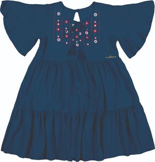 Vestido Infantil Coloritta Marinho