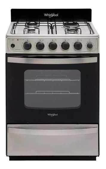 Cocina Whirlpool WFX57DW 4 multigas inox 220V puerta visor