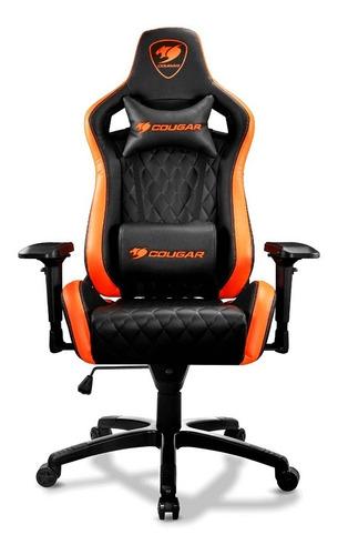 Silla Gaming Cougar Armor S Diseño Ergonómico Black & Orange
