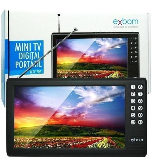 Mini Tv Digital Portátil Hd Tela 7.0 Usb Sd Rádio Fm Monitor