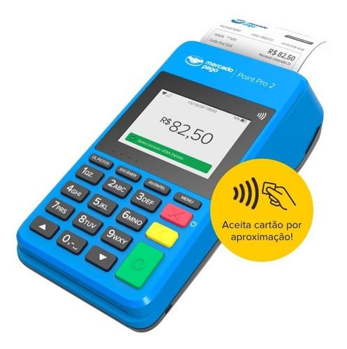 Imagem 1 de 5 de Point Pro 2 A Máquina De Cartão Do Mercado Pago Point 4g Nfc