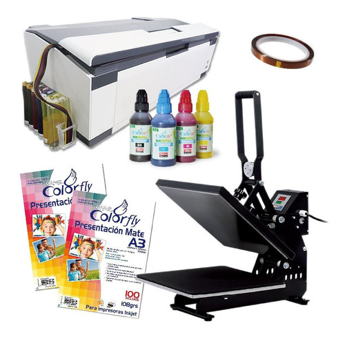 Kit Profesional Sublimación Prensa+impresora+tinta Disershop