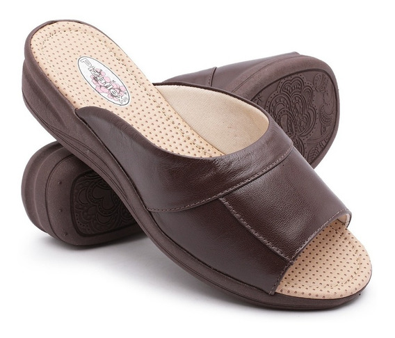 Sandália Tamanco Feminino Ortopédico Linha Confort Macio Top