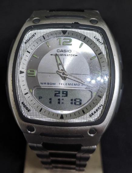 Reloj Casio Illuminator Telememo 30 Hora Mundial