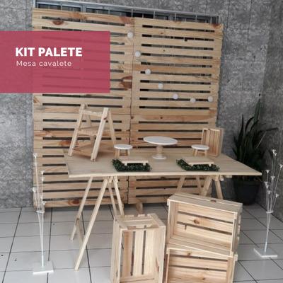 Aluguel De Móveis P/festa - Kit Palete, Rústico E Mini Table