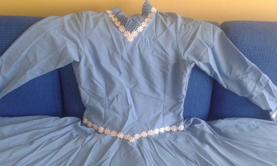 Vestido De Prenda Azul Claro 42 Poliester